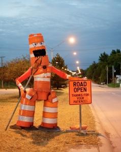 Construction Barrel Monster